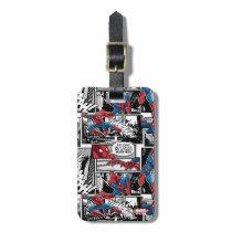 Spider-Man Comic Panel Pattern Bag Tag
