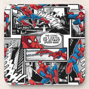Spider-Man Comic Panel Pattern Coaster