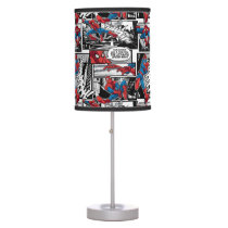 Spider-Man Comic Panel Pattern Desk Lamp