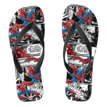 Spider-Man Comic Panel Pattern Flip Flops