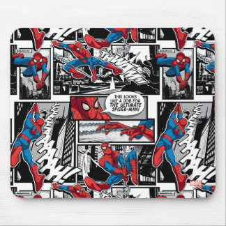 Spider-Man Comic Panel Pattern Mouse Pad