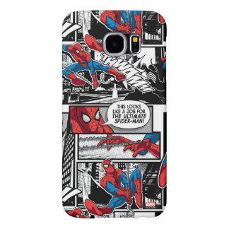 Spider-Man Comic Panel Pattern Samsung Galaxy S6 Case