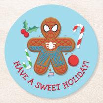 Spider-Man Cookie Round Paper Coaster