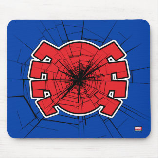 Spider-Man | Cracked Spider Symbol Mouse Pad