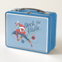 """Spider-Man """"Deck The Walls"""" Metal Lunch Box"""