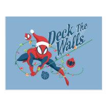 "Spider-Man ""Deck The Walls"" Postcard"