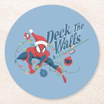 """Spider-Man """"Deck The Walls"""" Round Paper Coaster"""