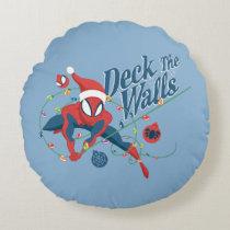 """Spider-Man """"Deck The Walls"""" Round Pillow"""