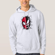Spider-Man | Dual Spider-Man & Venom Face Hoodie