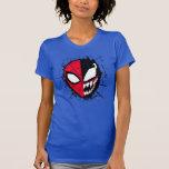 Spider-Man   Dual Spider-Man & Venom Face T-Shirt