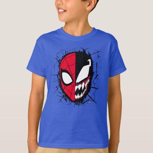 Spider_Man  Dual Spider_Man  Venom Face T_Shirt
