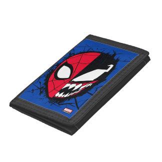 Spider-Man | Dual Spider-Man & Venom Face Trifold Wallet