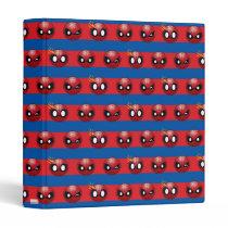Spider-Man Emoji Stripe Pattern 3 Ring Binder