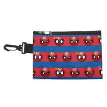 Spider-Man Emoji Stripe Pattern Accessory Bag