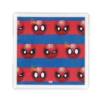 Spider-Man Emoji Stripe Pattern Acrylic Tray