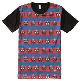 Spider-Man Emoji Stripe Pattern All-Over-Print Shirt