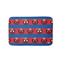 Spider-Man Emoji Stripe Pattern Bathroom Mat