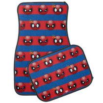 Spider-Man Emoji Stripe Pattern Car Floor Mat