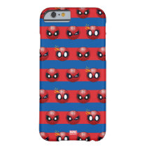Spider-Man Emoji Stripe Pattern Barely There iPhone 6 Case