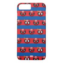 Spider-Man Emoji Stripe Pattern iPhone 8 Plus/7 Plus Case