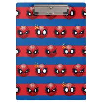 Spider-Man Emoji Stripe Pattern Clipboard