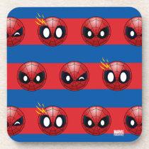 Spider-Man Emoji Stripe Pattern Coaster