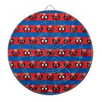 Spider-Man Emoji Stripe Pattern Dartboard
