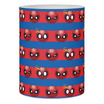 Spider-Man Emoji Stripe Pattern Flameless Candle