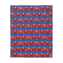 Spider-Man Emoji Stripe Pattern Fleece Blanket