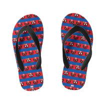 Spider-Man Emoji Stripe Pattern Kid's Flip Flops