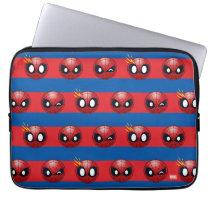 Spider-Man Emoji Stripe Pattern Laptop Sleeve
