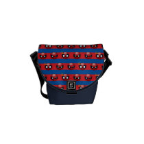 Spider-Man Emoji Stripe Pattern Messenger Bag
