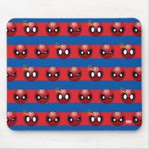 Spider-Man Emoji Stripe Pattern Mouse Pad