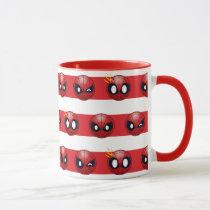 Spider-Man Emoji Stripe Pattern Mug