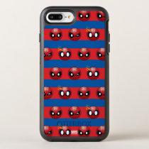 Spider-Man Emoji Stripe Pattern OtterBox Symmetry iPhone 8 Plus/7 Plus Case