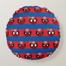 Spider-Man Emoji Stripe Pattern Round Pillow
