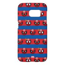 Spider-Man Emoji Stripe Pattern Samsung Galaxy S7 Case