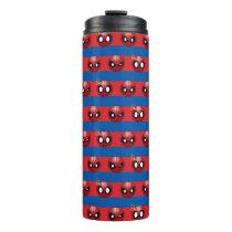 Spider-Man Emoji Stripe Pattern Thermal Tumbler