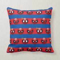 Spider-Man Emoji Stripe Pattern Throw Pillow