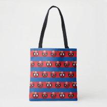 Spider-Man Emoji Stripe Pattern Tote Bag