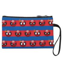 Spider-Man Emoji Stripe Pattern Wristlet Wallet