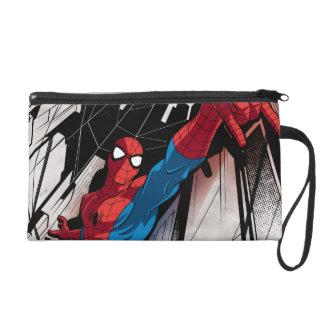 Spider-Man en ciudad abstracta