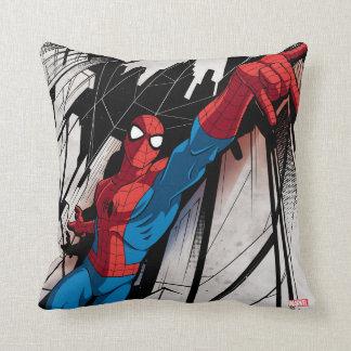 Spider-Man en ciudad abstracta Cojín