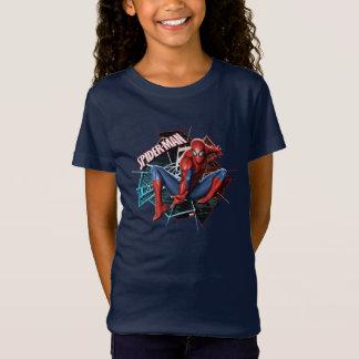 Spider-Man en gráfico fracturado del Web Camisas