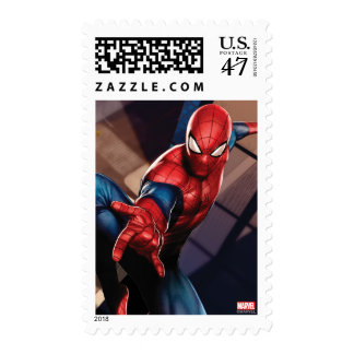 Spider-Man en rascacielos Sello Postal