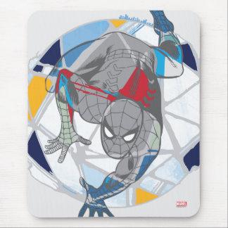 Spider-Man en Web del caleidoscopio Mouse Pad