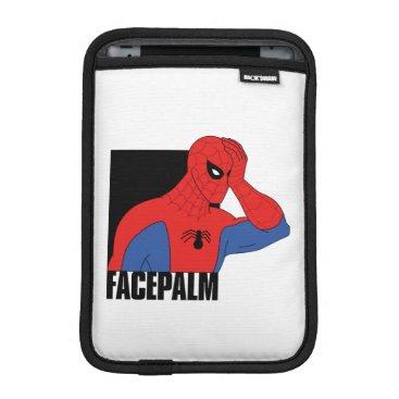 Spider-Man Facepalm Meme Graphic iPad Mini Sleeve