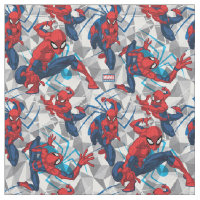Spider-Man | Geometric Character Art Pattern Fabric