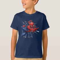Spider-Man | Geometric Character Art Pattern T-Shirt