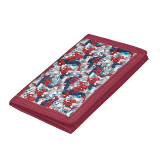 Spider-Man | Geometric Character Art Pattern Trifold Wallet